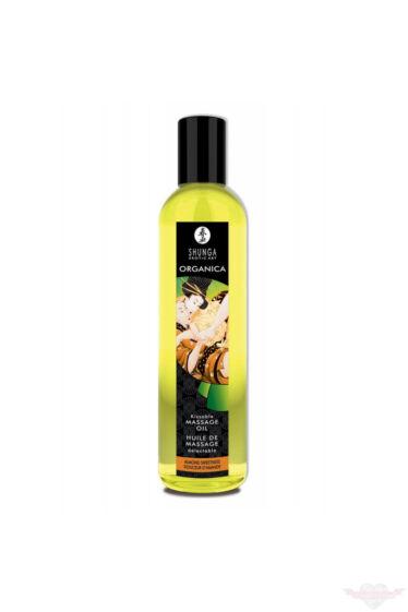 Shunga ORGANICA csókolható édes mandula ízű csókolható masszázsolaj 250 ml