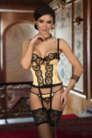 Michele szatén corset arany