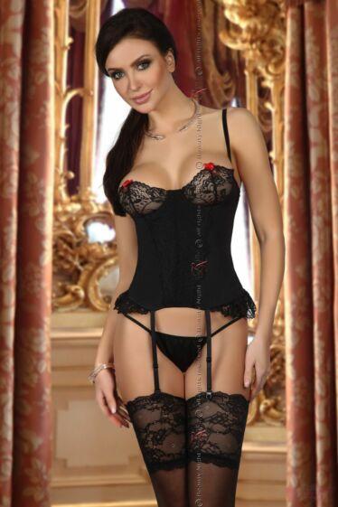 BEAUTY NIGHT Shirley fekete fűzős erotikus női body S/M