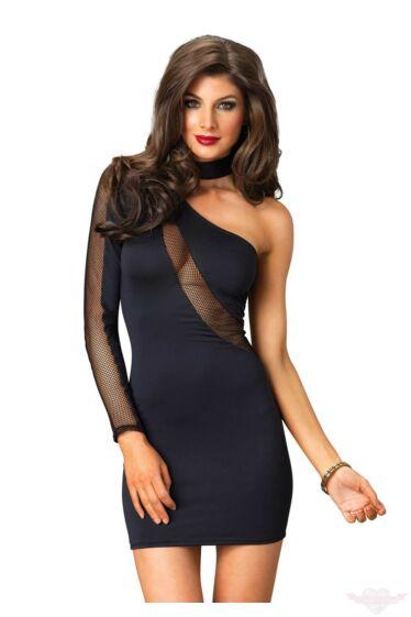 Leg Avenue fekete szexi miniruha M