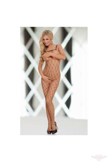 Softline fekete necc hálós rugalmas erotikus miniruha