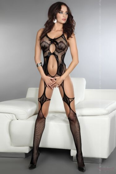Livco Corsetti Esmeralda különleges sexy fekete testharisnya
