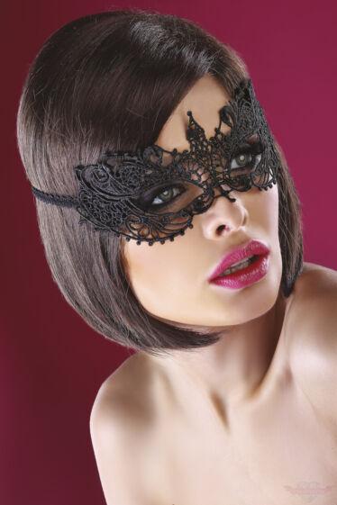 Livco Corsetti Model 12 Fekete csipke arcmaszk kep