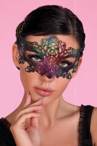 Livco Corsetti szivárvány színű csipke maszk