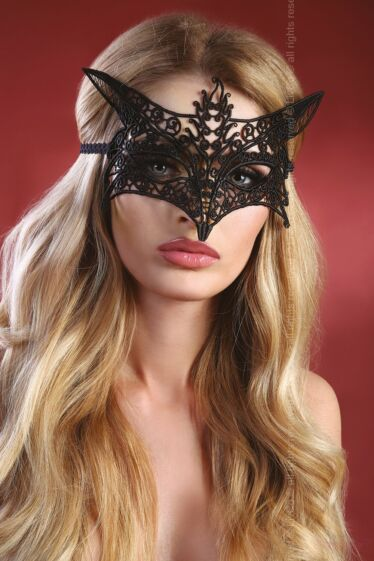 Livco Corsetti model 9 fekete csipke pillangó arcmaszk
