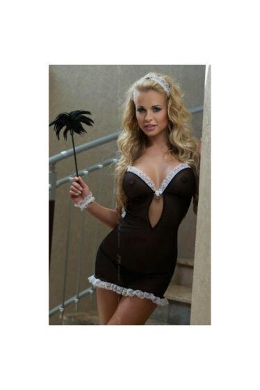 Softline szexi 4 részes szobalány jelmez fehérnemű erotikus ruha S/M