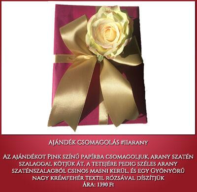 ajándék csomagolás no 11 pink-arany