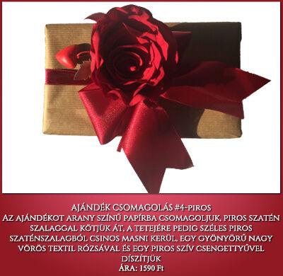 ajándék csomagolás no 4 arany-piros